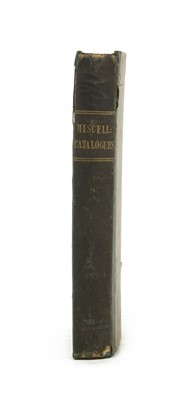 Lot 94 - 12 EARLY SALE CATALOGUES BOUND IN ONE VOLUME