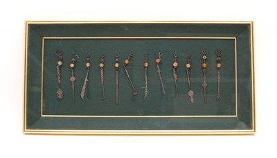 Lot 116 - A collection of Chinese white metal chatelaine implements