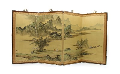 Lot 115 - A Japanese table screen