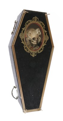 Lot 24 - A CHILD'S SKELETON IN A COFFIN