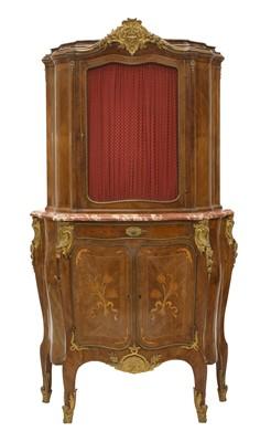 Lot 42 - A Louis XV-style kingwood silver cabinet