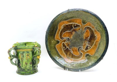 Lot 82 - A Castle Hedingham pottery tyg