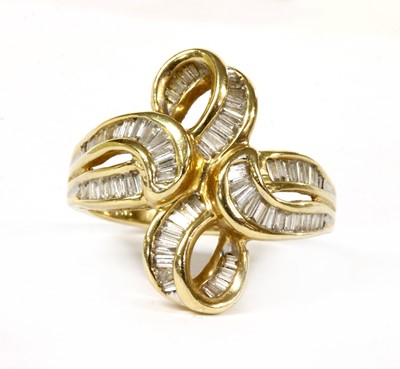 Lot 55 - A 14ct gold diamond ring