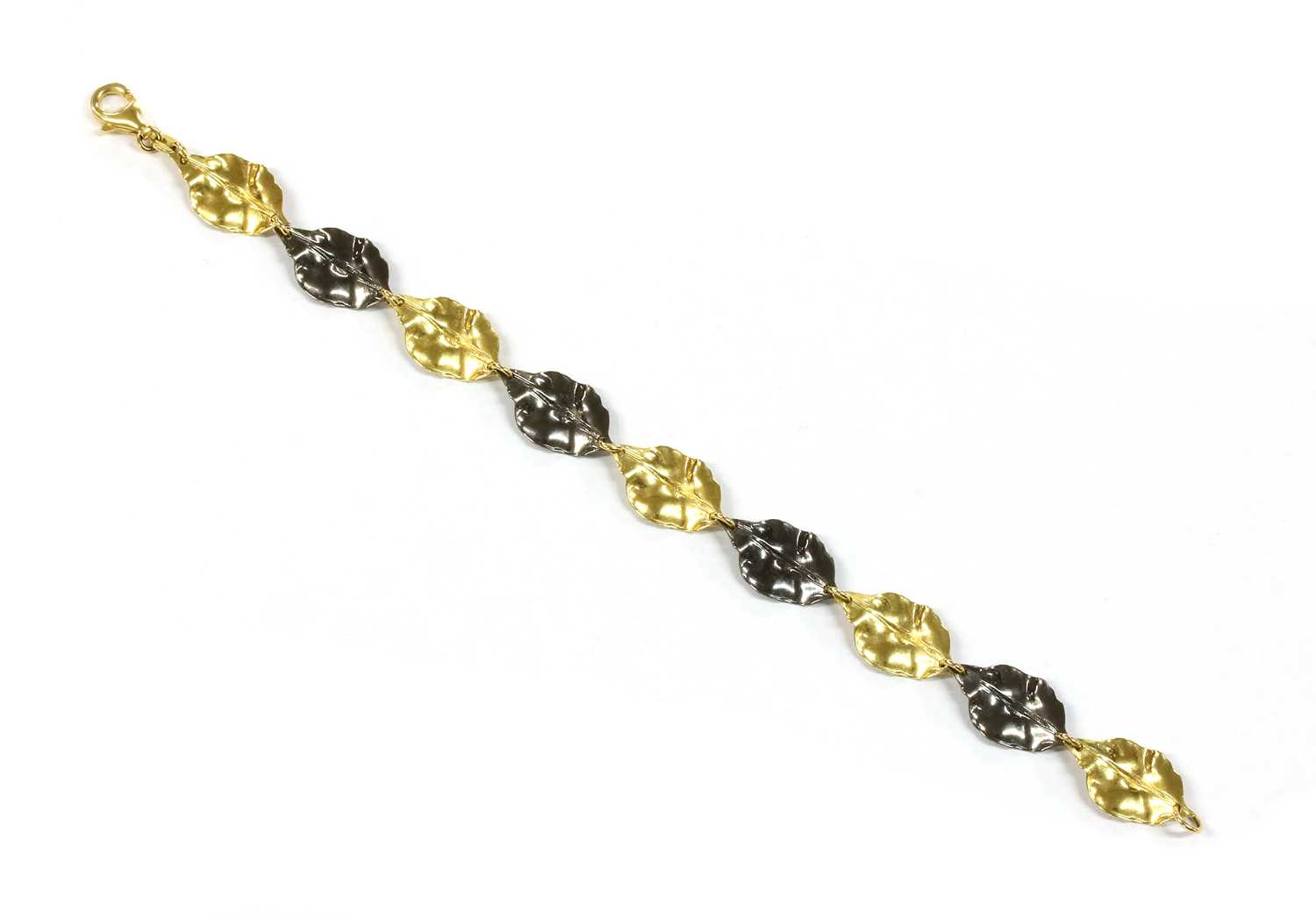 Lot 64 - A 9ct gold foliate bracelet