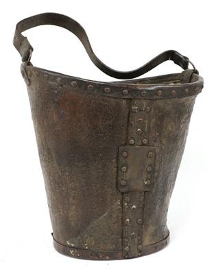 Lot 97 - A George III leather bucket