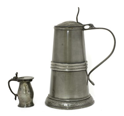 Lot 73A - A large pewter tankard