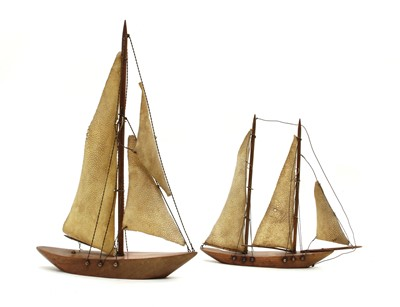 Lot 48 - Two French yacht models