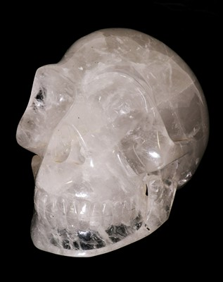 Lot 167 - AN EXCEPTIONALLY LARGE CRYSTAL SKULL