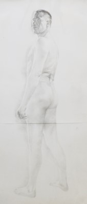 Lot 449 - A NUDE PENCIL DRAWING