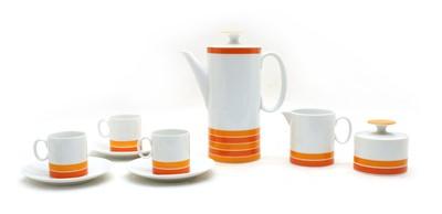 Lot 95 - A German porcelain coffee service