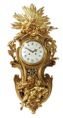 Lot A large and impressive Louis XVI gilt-bronze cartel clock