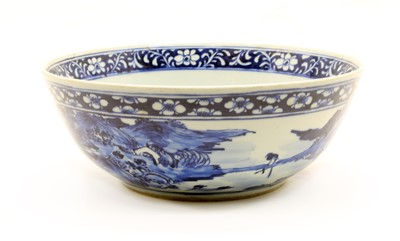 Lot 32 - A Modern Chinese blue and white bowl