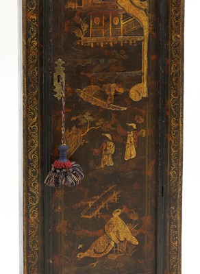 Lot A chinoiserie-decorated longcase clock