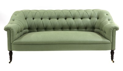 Lot A George Smith chesterfield design settee