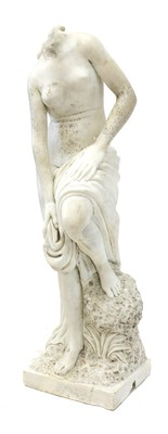 Lot A carved marble statue of Venus of the Bath