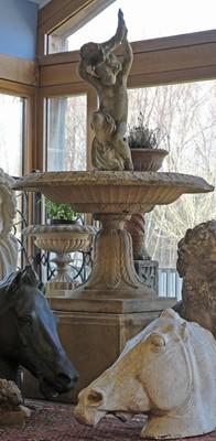 Lot A large blush terracotta urn
