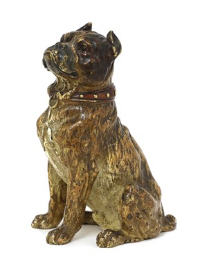 Lot 74 - A cold-painted bronze model of a mastiff