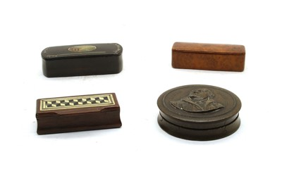 Lot 63 - Four 19th century snuff boxes
