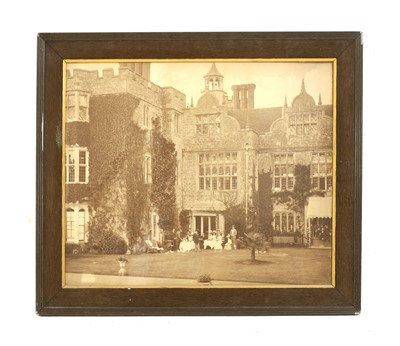 Lot 117 - Knole, Kent, a large signed black and white photograph of the country house