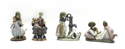 Lot 56 - A collection of Lladro porcelain figures