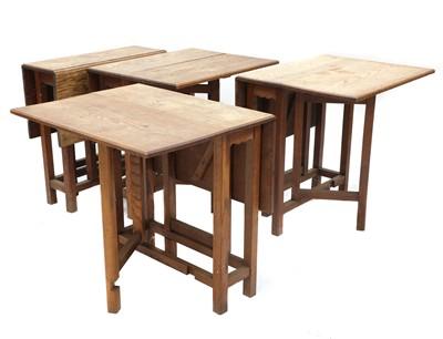 Lot 61 - Four Cotswold oak gateleg tables