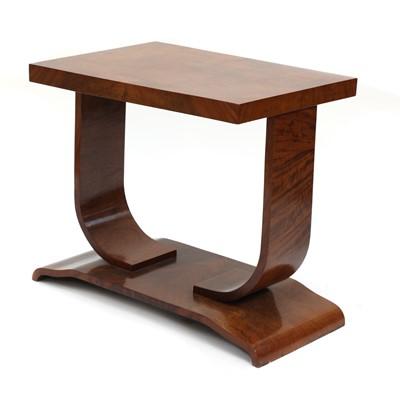 Lot 188 - An Art Deco walnut coffee table