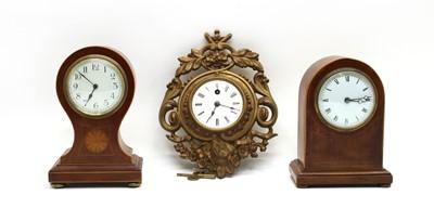 Lot 60 - An Edwardian inlaid mantle clock