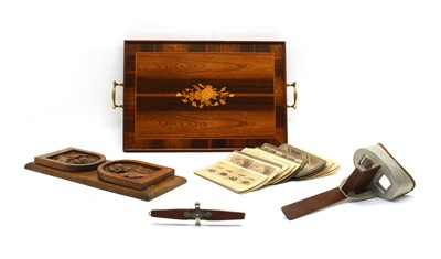 Lot 62 - A marquetry tray