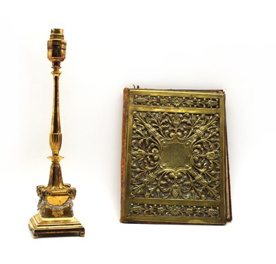 Lot 53 - A gilded table lamp in the Classical Adam style