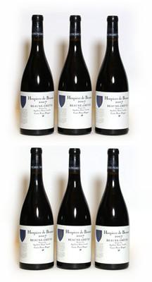 Lot 38 - Hospices de Beaune, Beaune-Greves, Pierre Floquet, 2007, six bottles (boxed)