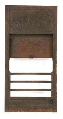 Lot 21 - A Barnard Bishop & Barnard cast iron fireplace insert
