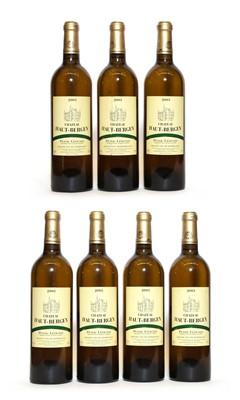 Lot 26 - Chateau Haut-Bergey Blanc, Pessac-Leognan, 2003, seven bottles