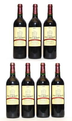 Lot 64 - Chateau Haut-Bergey, Pessac-Leognan, 2003, seven bottles