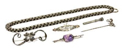 Lot 14 - A Victorian silver collar