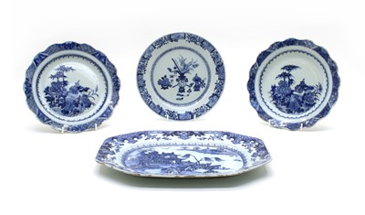 Lot 72 - Seven 19th century Chinese blue and white porcelain plates