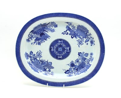 Lot 80 - A 19th century Chinese blue and white porcelain plate