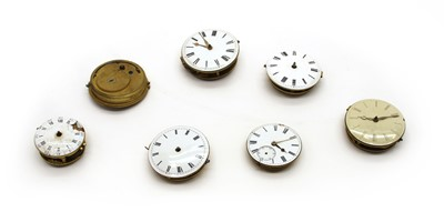 Lot 113 - Fourteen 18th and 19th century pocket watch movements