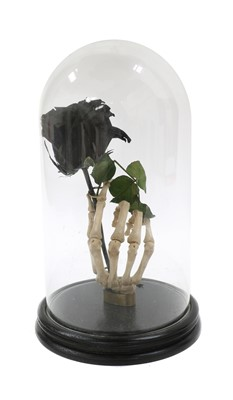 Lot 102 - A MOUNTED SKELETAL HAND