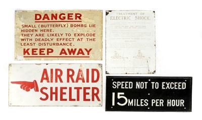 Lot 158 - WORLD WAR II MILITARY SIGNS