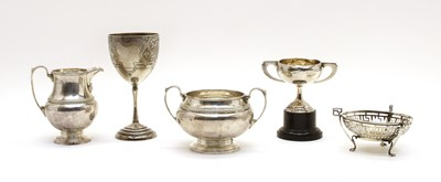 Lot 19 - Five silver items