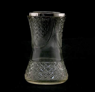 Lot 10 - A moulded glass vase