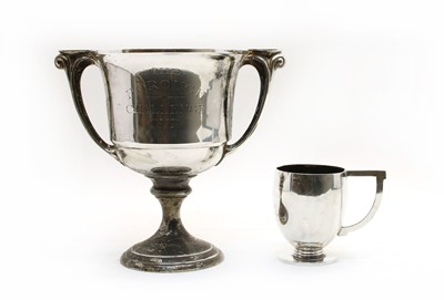 Lot 4 - Two 'Art Deco' period silver trophies