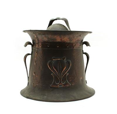 Lot 38 - An Arts and crafts copper coal bin