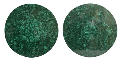 Lot 5 - A near pair of malachite tabletops