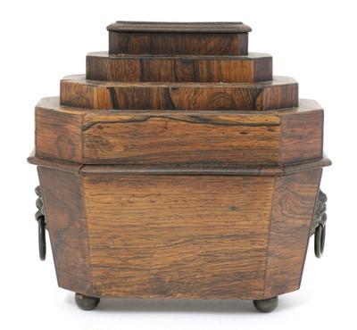 Lot 90 - A Regency rosewood pincushion