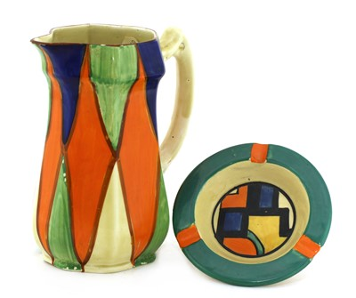 Lot 96 - A Clarice Cliff geometric water jug