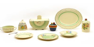 Lot 114 - A collection of Clarice Cliff items to include a tureen and cover