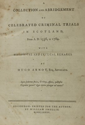 Lot 30 - TRIALS FOR WITCHCRAFT