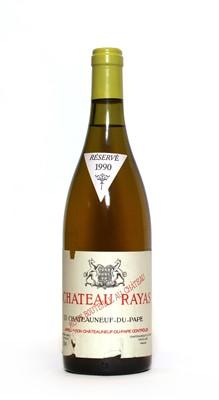 Lot 27 - Chateauneuf-du-Pape Blanc, Chateau Rayas, 1990, one bottle
