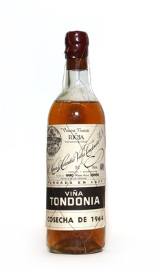 Lot 28 - Rioja Blanco, Viña Tondonia, R. Lopez de Heredia, 1964, one bottle